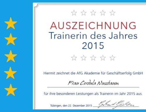 """Welche Freude: """"Trainerin des Jahres 2015"""""""
