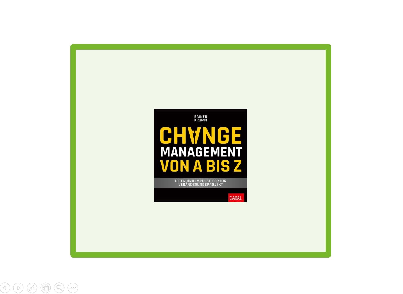 change, management, rainer krumm,
