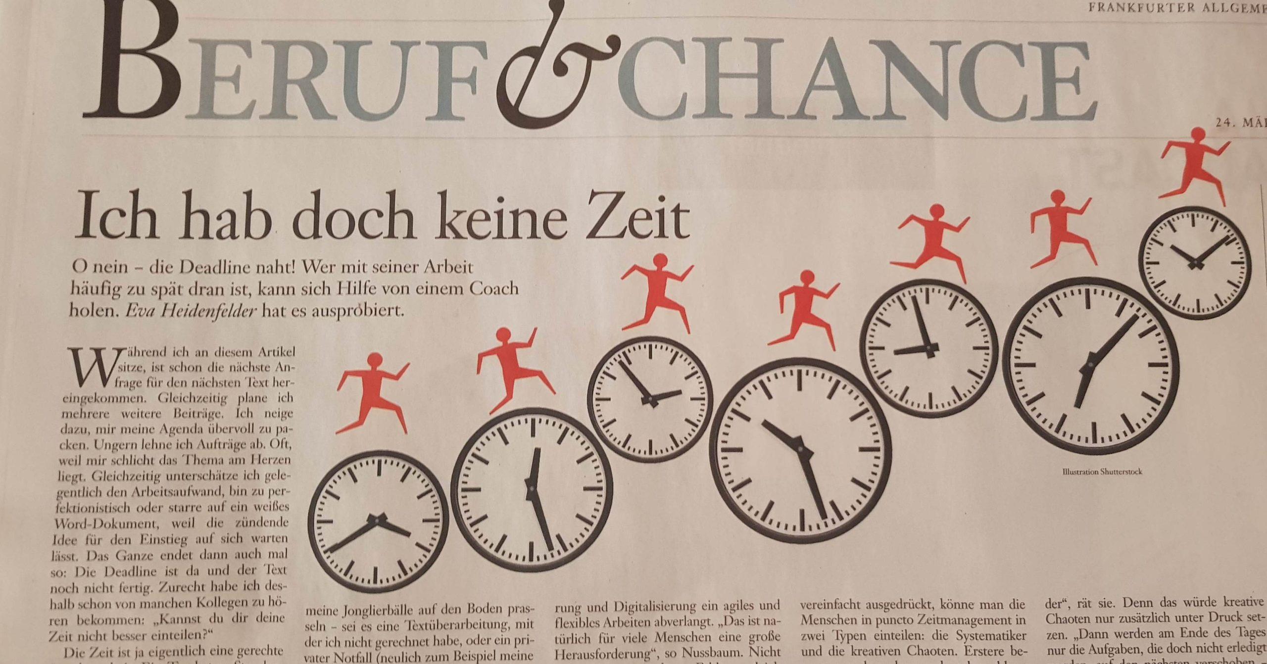 Zeit-Coach FAZ