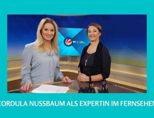 Cordula Nussbaum als Expertin im Fernsehen