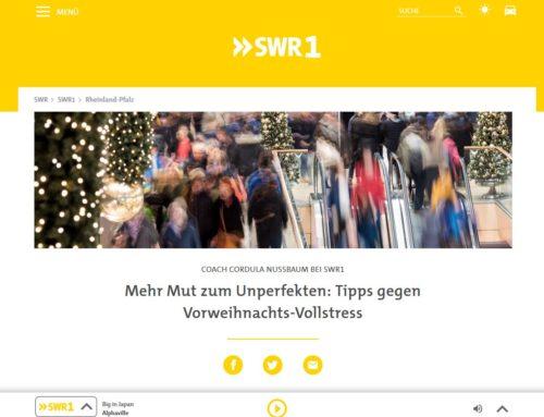 Heute live on air: SWR1-Interview Raus aus dem Weihnachtsstress