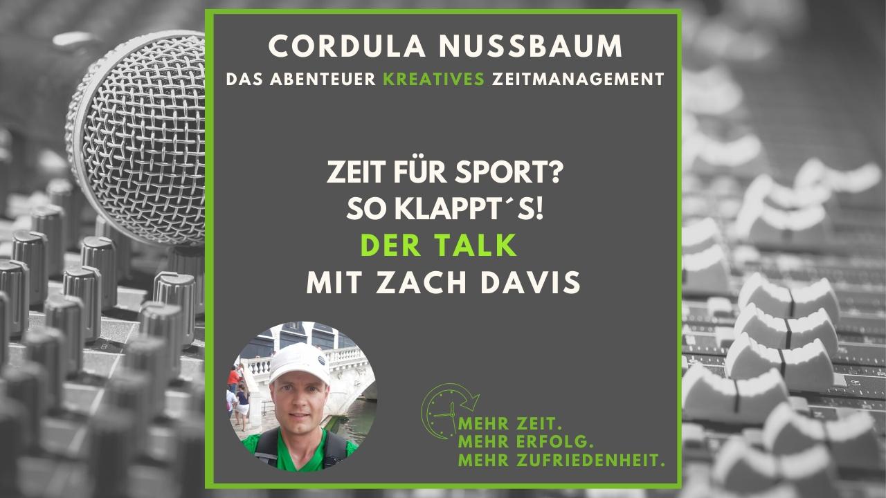 zeitmanagement podcast zeit für sport zach davis