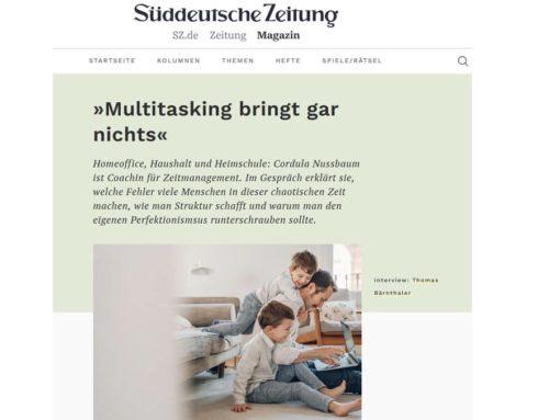 """Süddeutsche Zeitung-Magazin: """"Multitasking bringt gar nichts"""""""