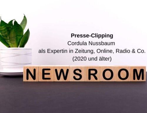 Cordula Nussbaum in Print, Radio & Online (2020 und älter)