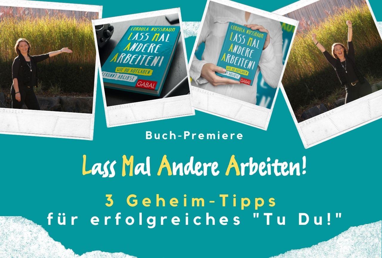 Buch-Launch Delegieren LMAA