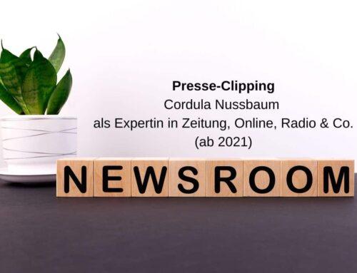 Cordula Nussbaum als Expertin in Print, Radio & Online (ab 2021)