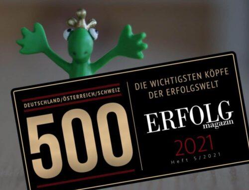 Ausgezeichnete Arbeit: Cordula unter den 500 wichtigsten Köpfen der Erfolgswelt